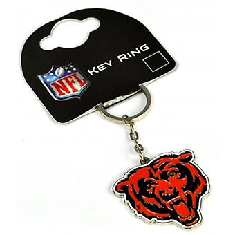 Chicago Bears Nfl Metal / Enamel Keyring. Official Licensed Product