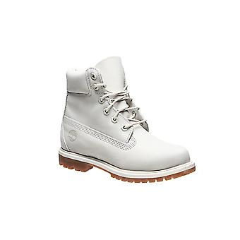 Timberland leather boots 6 premium WP junior white