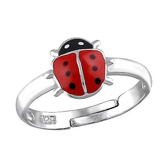 Ladybird - Epoxy Colour + 925 Sterling Silver Rings - W23478X