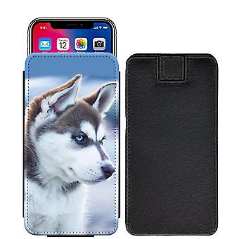 Husky Custom Designed Printed Pull Tab Pouch Phone Case Cover for Google Pixel 2 XL - [L] - - hky01_web