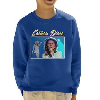 Celine Dion Tribut Montage Kid Sweatshirt