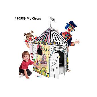 Cardboard Playhouse - Colour and Play with Cardboard Playhouse My Circus
