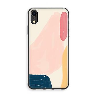 iPhone XR Transparant Case (Soft) - Saturday Flow