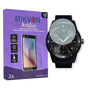 LG G Watch R Screen Protector - Mikvon AntiSun (Retail Package with accessories)