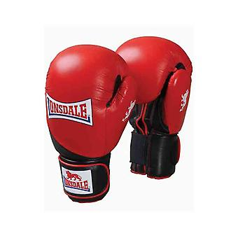 Lonsdale Lthr Club Spar Boxing Gloves Punch Fight Mitts Training Sport Equipment