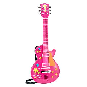 Bontempi iGirl Electronic Pink Rock Guitar With Rock Sound Effects Age 3+ Years