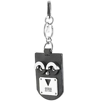 GUESS cool ladies Keychain black leather
