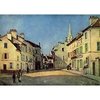 Square in Argenteuil,Alfred Sisley,46.5x66cm