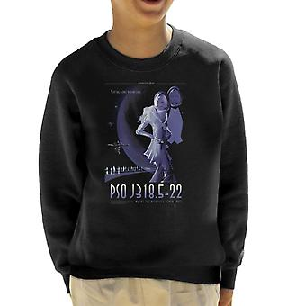 NASA PSO J318 5 22 Interplanetary Travel Poster Kid's Sweatshirt