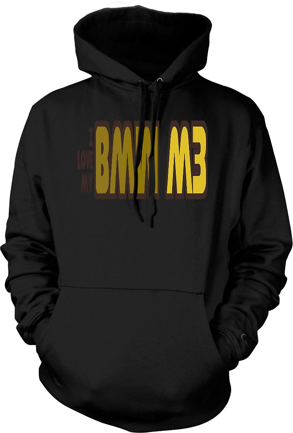Mens Hoodie - I Love My BMW M3 - Car Enthusiast