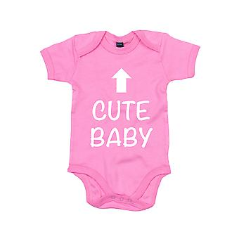 Cute Baby Pink Short Sleeve Bodysuit Baby Grow