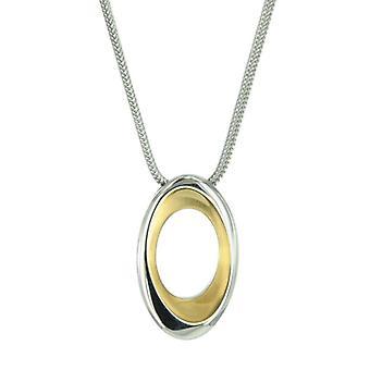 السيدات سكاجين سلسلة الذهب الفولاذ المقاوم للصدأ قلادة فضية JNG0003