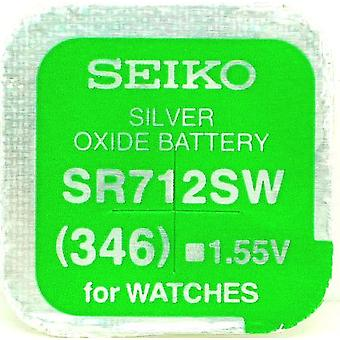 Seiko 346 (sr712sw) 1.55v Silver Oxide (0%hg) Mercury Free Watch Battery - Made In Japan