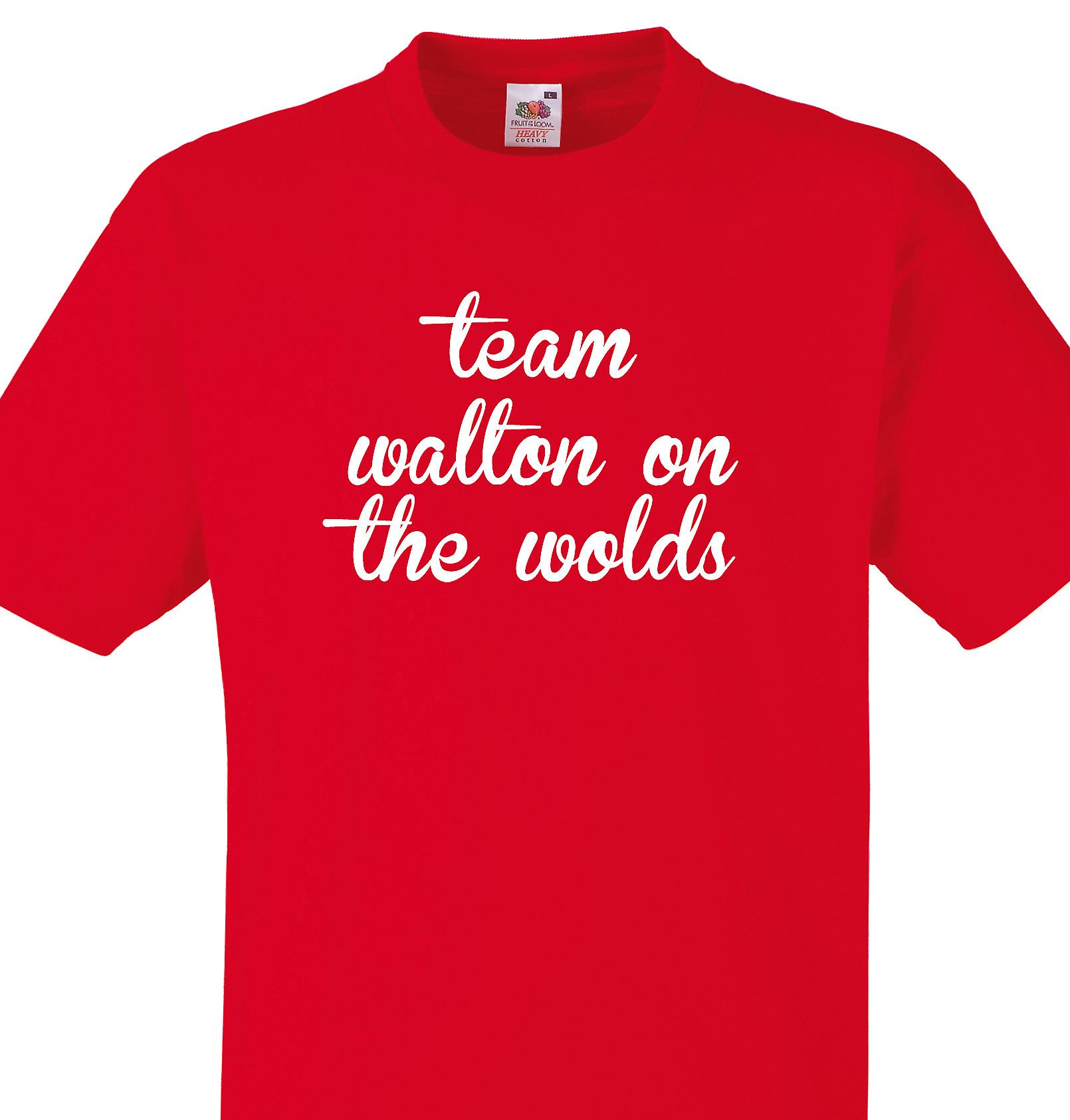 Team Walton on the wolds Red T shirt