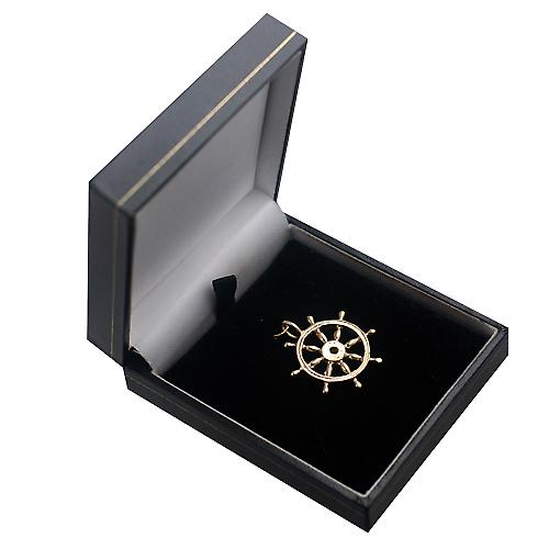 9ct Gold 28mm solid Ships Wheel Pendant or Charm