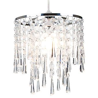 Modern and Contemporary Transparent Acrylic Waterfall Pendant Lighting Shade