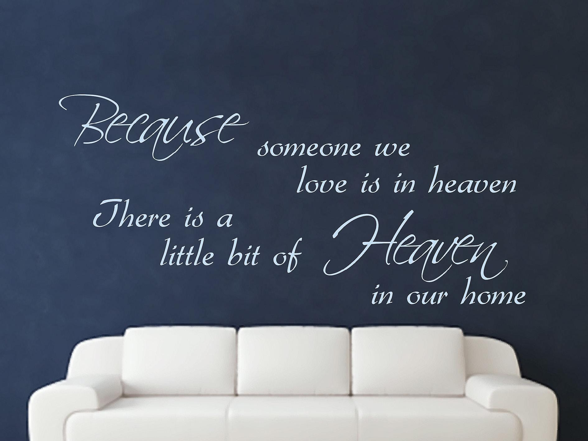 Because Someone Wall Art Sticker - Pastel Blue