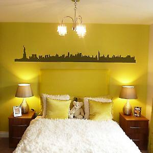 NEW YORK SKYLINE WALL ART STICKER -Large