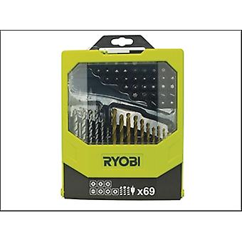 Ryobi RAK 69MIX Mixed Screwdriver Set of 69