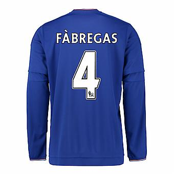2015-2016 Chelsea Home Long Sleeve Shirt (Fabregas 4) - Kids