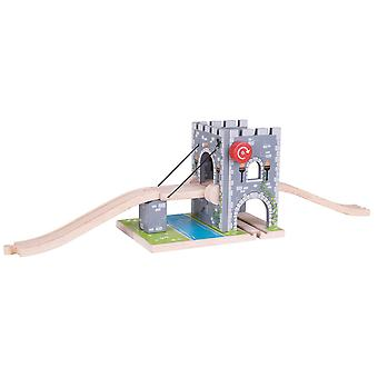 Bigjigs Rail Wooden Drawbridge Train Set Railway Accessories