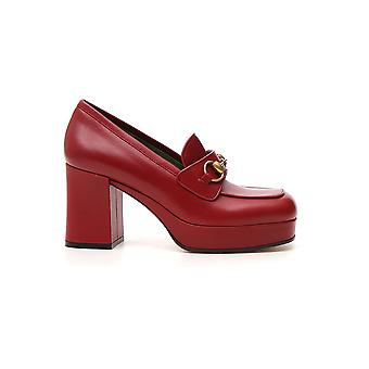 Gucci Burgundy Leather Loafers
