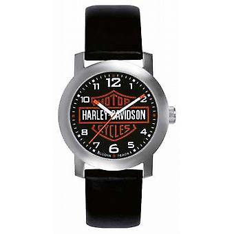 Harley Davidson Mens Black Leather Strap 76A04 Watch