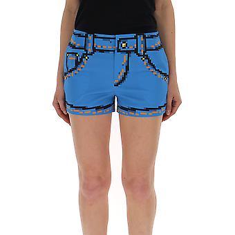 Shorts de algodón Moschino Light Blue