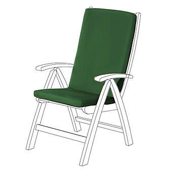 Gardenista® Green Water resistent highback Seat pad til havestol, pakke med 4