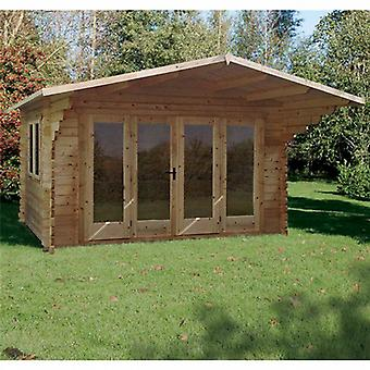 Forest Garden Abberley Log Cabin 4 x 3m