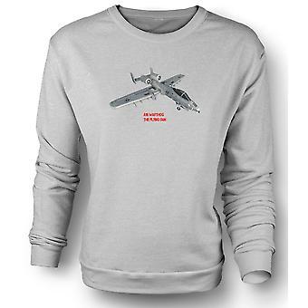 Womens Sweatshirt A10 Warthog - flygende pistolen