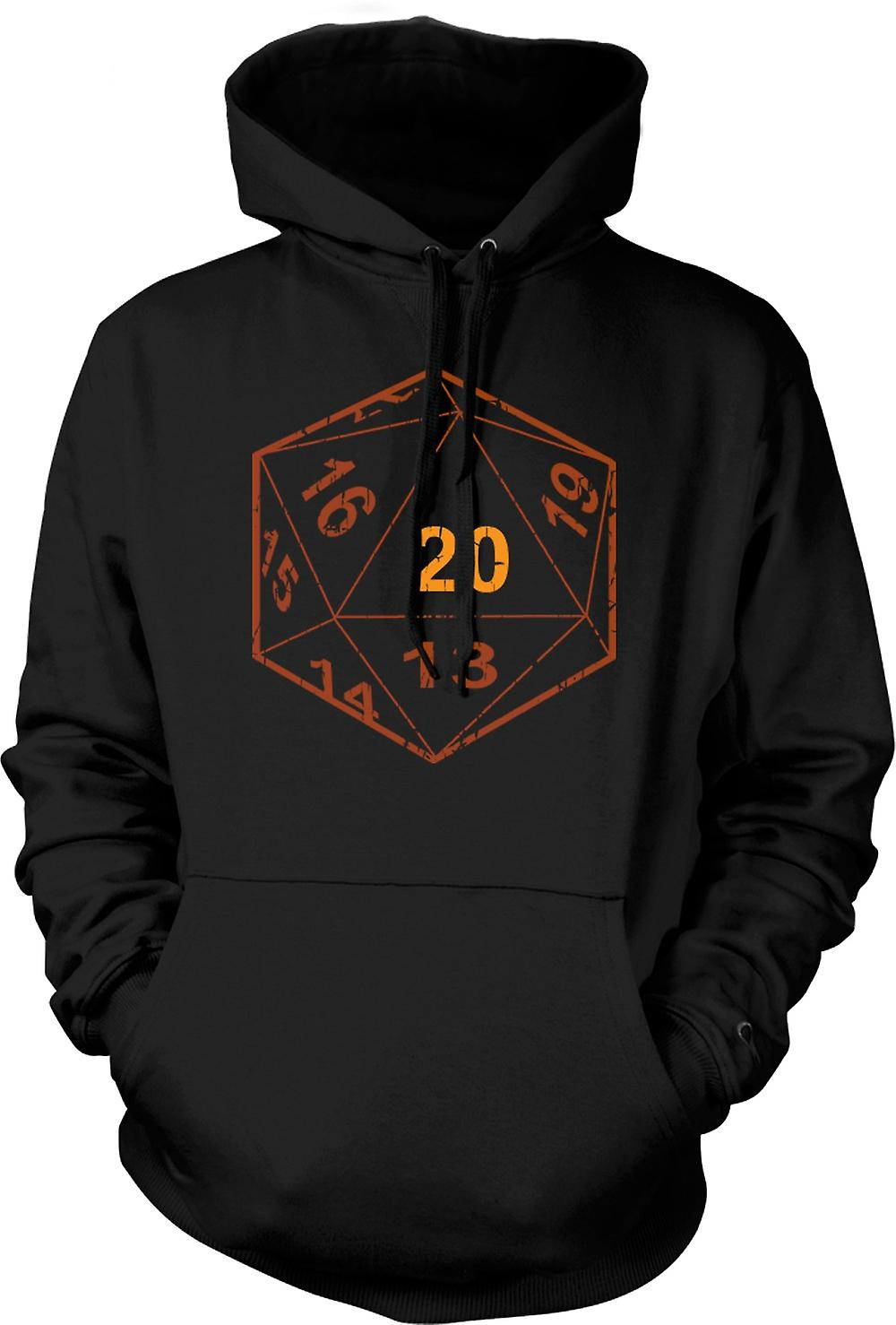 Mens Hoodie - Dungeons And Dragons D20 dadi - Gamer