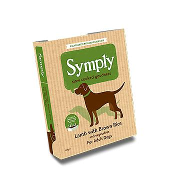 Symply Lamb With Brown Rice For Adult Dogs 395G Wet Trays Single Pack