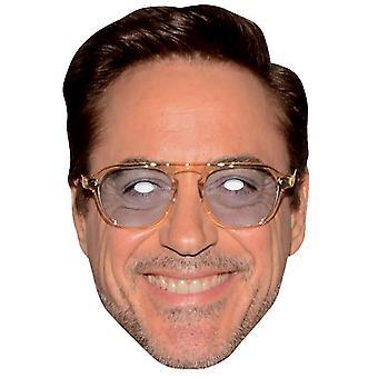 Robert Downey Jr Single 2D Card Party Face Mask