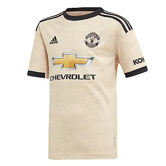 adidas Manchester United 2019/20 Kids Short Sleeve Away Football Shirt Linen