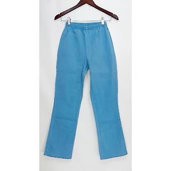 Denim & Co. Petite Leggings Stretch Boot Cut Blue A01724