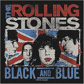 Rolling Stones Black And Blue sew-on cloth patch 100mm square (rz)