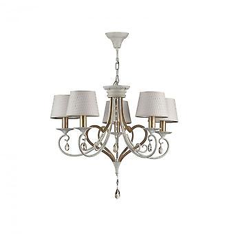 Maytoni Lighting Enna Elegant Chandelier , White Gold