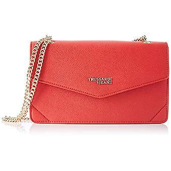 Trussardi Jeans Charlotte Cross Body Chain MD Red Woman Shoulder Bag (Red) 17x7x27 cm (W x H x L)