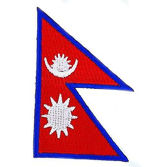 Patch Patch Brode Flag Nepal Nepalese Thermocollant Insigne Blason