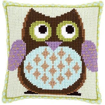 Mister Owl Cushion Cross Stitch Kit-15.75