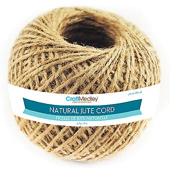 Natural Jute Cord 2Ply 80G Fl100
