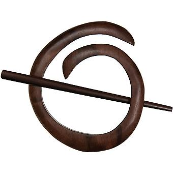 Spiral Shawl Pin Tiger Ebony Sp40801