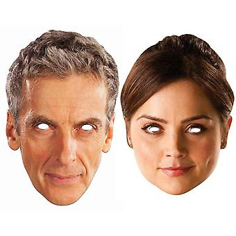Peter Capaldi 12. Doctor Who und Clara Oswald Karte Partei Gesicht maskiert (2er Pack)