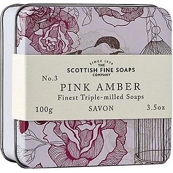 Scottish Fine Soaps Vintage Pink Bernstein Soap Tin