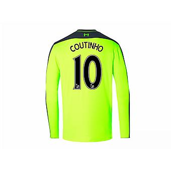 2016-17 Liverpool Third Long Sleeve Shirt (Coutinho 10)
