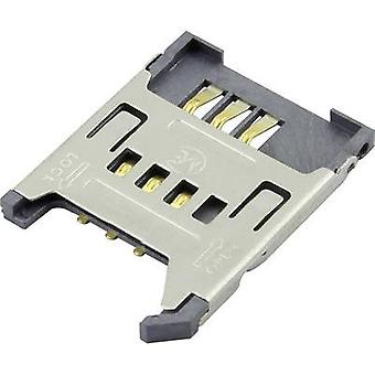 SIM Card connector No. of contacts: 7 Flap Attend 1 pc(s)