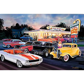 Hot Rod Drive In Poster Print by Bruce Kaiser