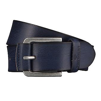 TOM TAILOR belt leather belts men's belts jeans belt blue 4514