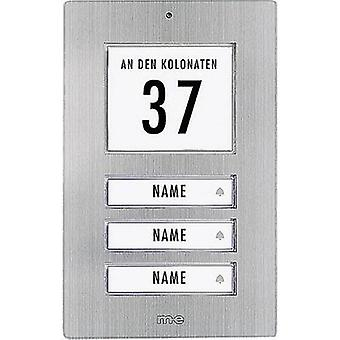 Bell panel backlit, with address field, with nameplate 3x m-e modern-electronics KT 3-EG Stainless steel 12 V/1 A